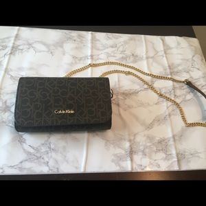 69d5292adf Calvin Klein Bags - NWT Calvin Klein CK Brown logo crossbody bag